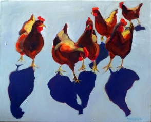 Colleen's Chickens By Joanne Taeuffer