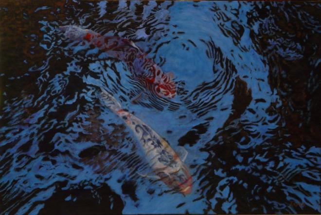 Koi Pond II By Shaon Tama