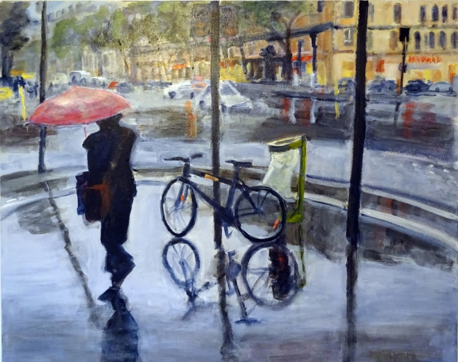 A Rainy Day In Paris By Joanne Taeuffer